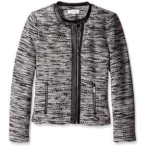 NWOT Calvin Klein Boucle Moto Jacket